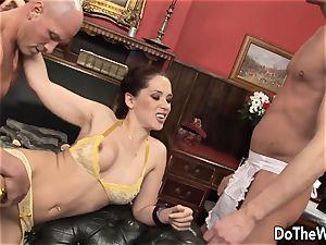black-haired wife Karia Kare liking strangers pipe