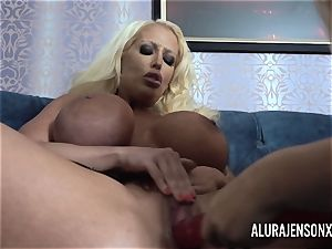 Alura and her huge-titted girl/girl friend Dolly get insane