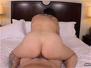 fat innate breasts mummy gets hardcore banging