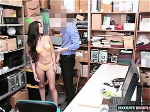 super hot Latina Sophia Leone gets her cooch boned by officers gigantic wood so stiff