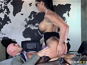 enormous breasted Peta Jensen porked throughout the boardroom table