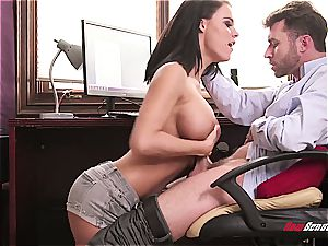 large breasted wife cheats with the computer dweeb
