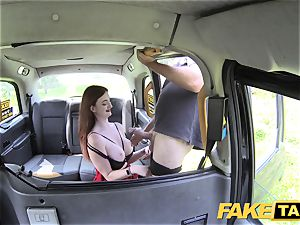 faux cab Olive skin ginger-haired in underwear