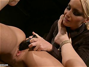 Kathia Nobili like to pinned down her marionette with dildo