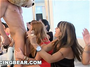 CFNM hotel soiree with big weenie masculine Strippers