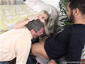 Cadence Lux Makes cunt spouse licks dudes jizz