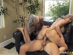 sitter Janice Griffith joins Brandi love for a romping
