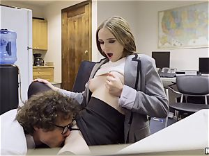 Ava Hardy creampied in the office