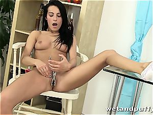 voluptuous Lexi Donna playthings and gropes her supple twat