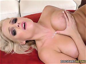 Katy Jayne tries Mandingo's big black cock first Time