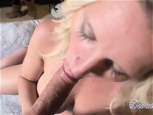 Devon Lee is loving her man's crop plunged in her fleshy facehole