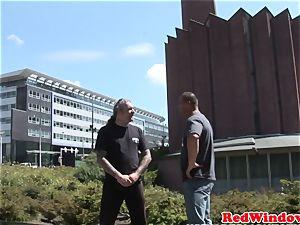 Real dutch prostitute dicksucking in Amsterdam