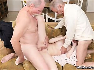 elder milf striptease and mother young patron crony Frannkie goes down the Hersey highway