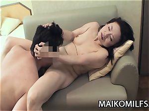 Junko Sakashita: JAV grannie Creampied By A young knob