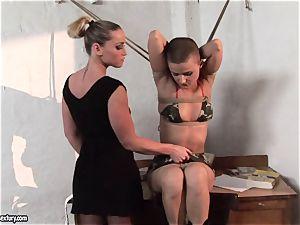 Kathia Nobili and C J stunner trussing of forearms