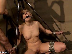 Katy Borman gets a red-hot honey stinging a ball