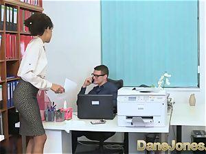 Dane Jones super-sexy teenage ebony office woman