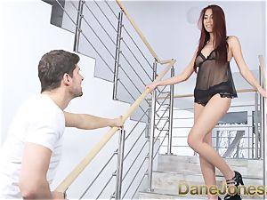 Dane Jones japanese beauty gives boyfriend cool undergarments