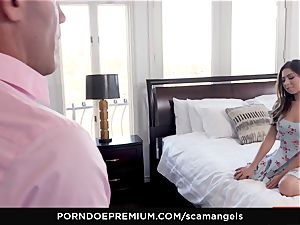 SCAM ANGELS - Gina Valentina gang hump with torrid stunners