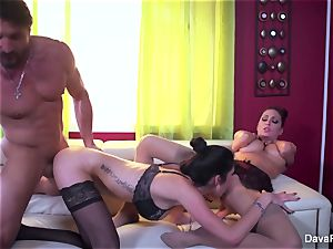 Dava gets caught with a married chick & does them both