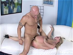 Getting boinked by Derrick Pierce on the bed