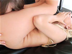 Dani Daniels tongues on Lexi Belle's wet vulva