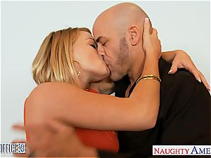 blondie Krissy Lynn at the office getting torn up rock-hard