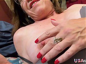 USAwives grannie Carmen Solo fucktoys getting off