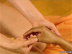 Slow sensuous rubdown fondle For women