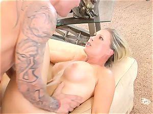 Devon Lee honey getting mans wad split in her mouth
