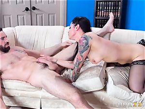 ultra-kinky Katrina Jade bouncing on a enormous dick