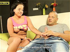large nubile with saggy titties getting fucked
