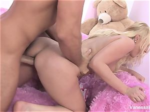 Interview and banging with light-haired cutie Vanessa cell
