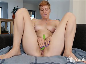 red-haired Aurora playing Her honeypot