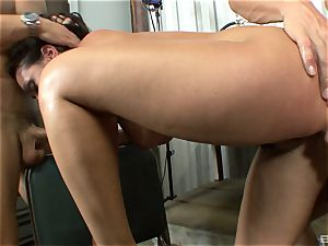 stellar brown-haired with enormous jugs Charley haunt