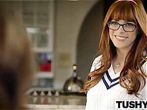 TUSHY first-ever rectal For college girl Anya Olsen