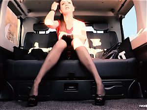poked IN TRAFFIC - brit Tina Kay torn up in the car