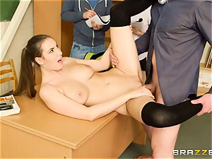 Connie Carter gets some classroom trunk act