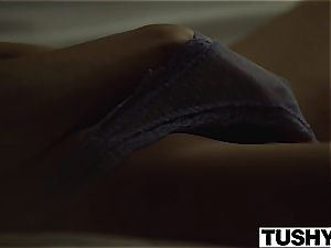 TUSHY college college girl Gets disciplined by tutor