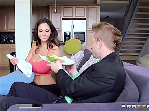Ava Addams is pummeled in both her wet fuck holes