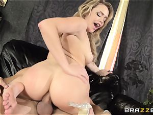 Mia Malkova gets her dancing bootie porked to the nut sack