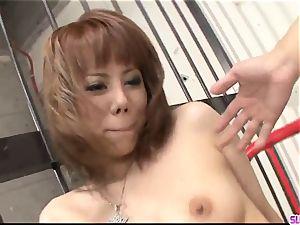 Rui Shiina leads greedy man-meat in her furry pussy