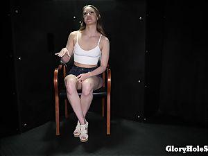 teenage chick gobbling gloryhole jizz from strangers