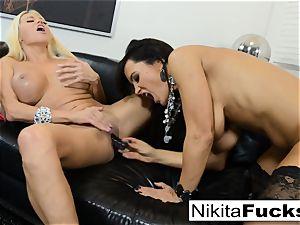 super-fucking-hot Russian Nikita Von James ravages porno veteran Lisa Ann