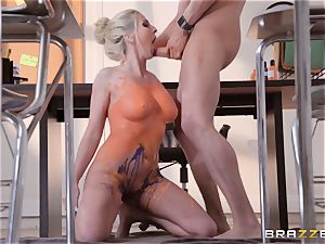 Christie Stevens arched over and plowed doggystyle