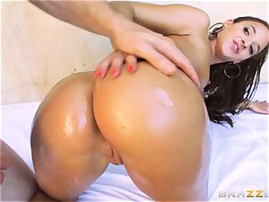 Amirah Adara getting her cock-squeezing little ass penetrated