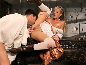 Fairytale stunner Samantha Saint gets to screw her prince