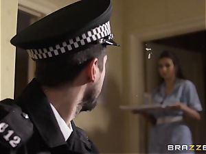 Nurse Connie Carter drills her charge