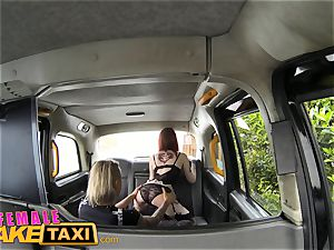 lady fake cab super-sexy sapphic dominates redhead