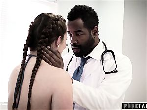 Maddy O'Reilly Exploited into big black cock anal invasion at Doctors check-up